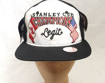 legit vintage X starter stanley cup champions snapback hat deadstock NWT adult OSFA 1995
