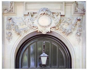 Grey Door photography, Paris architectural art print, Paris extra large wall art, neutral living room decor, 16x20 print, 18x24 20x24, 30x40