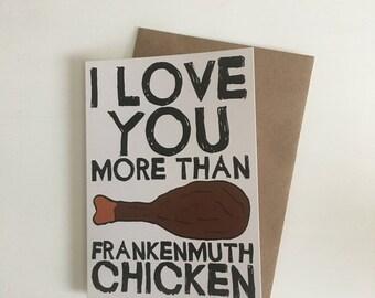 Frankenmuth Chicken Love Card