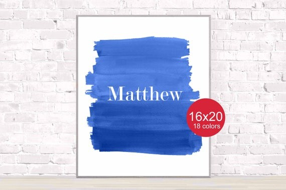 Boys Poster Personalized with Name, 16x20, 12x16