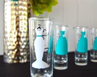 Bridesmaid Gift - Personalized Shot Glasses - Wedding Party Glasses - Bachelorette Bridal Party Shot Glasses - Bridesmaid Shot Glasses
