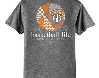 OFFICIAL TM Basketball Life Custom Monogram T-Shirt Basketball Shirt