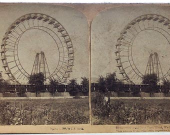 Stereoscopic A. F. Jarvis Publisher 1903 Stereocard Ferris Wheel World's Fair Chicago