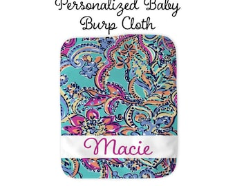 Personalized Baby Burp Cloth, Burp Cloth, Baby Shower Gift, New Baby Gift, New Mom Gift