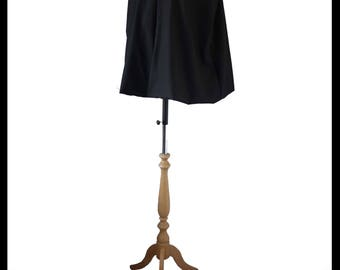 Quality Black Poly Cotton Short Cloak/ Cape lined with Navy Blue Shimmer Satin. Medieval Costume Gothic Alternative NEW! Immediate Dispatch!