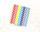 2 Dollar Tuesday Car Multicolor Icon Stickers, Travel Day, Road Trip, Errand Reminder