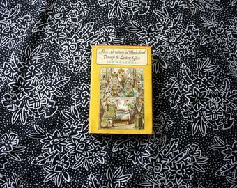 Alice's Adventures In Wonderland And Through The Looking Glass by Lewis Carroll Hardcover Book. 1960s Hardcover Illustrated Book