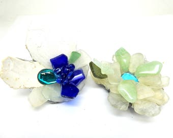 Blue brooches jewelry for women