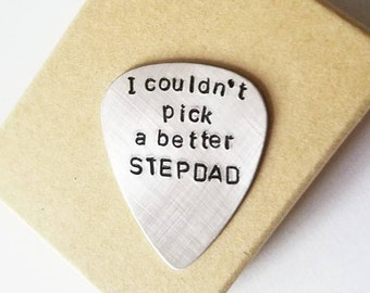 Step dad Gifts | I couldn't pick a better dad Guitar Pick | Stepfather of Bride | Stepfather Gifts | Stepdad gift