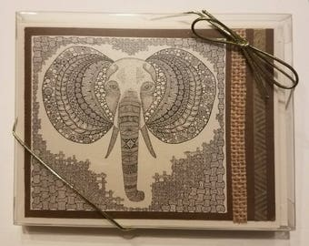 Set of 5 Unique African cards. Originals  by Jenny Healy