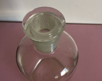 Vintage Pyrex Apothecary Glass Bottle 29 with Stopper