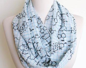 Chemistry Formula Infinity scarf Geek item Circle scarf spring fall summer winter fashion teacher gift