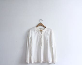 Minimal Embroidery Moroccan Shirt
