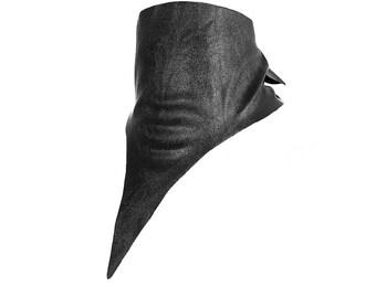 Unisex bandana choker black vegan leather stretch adjustable Reina collection - Rannka