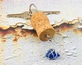 Wire wrapped sea glass ke...