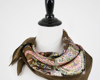 Vintage Liberty of London Paisley Silk Square Scarf Made in England