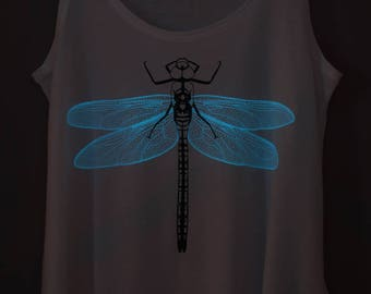 Violet Dragonfly Glow-in-the-dark Woman Tank top