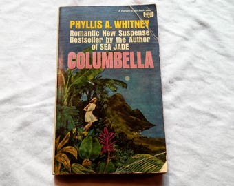 """Vintage 70's Gothic Paperback, """"Columbella"""" by Phyllis Whitney, 1970."""