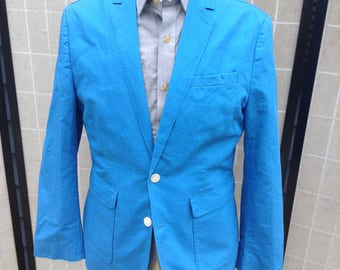 Blue Cotton Jacket, Summer Sport Coat