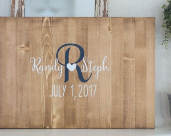 Family Name Sign, Guest book alternative, Wedding decoration, Wedding gift