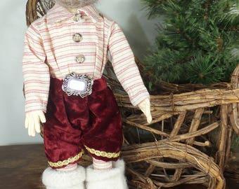 Art Doll-Pierre the Elf OOAK Cloth Doll