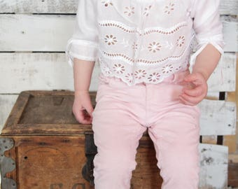 Pretty Baby Eyelet Button up Blouse