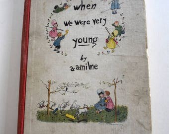 Vintage Children's Book, When We Were Very Young, Special Edition, 1925