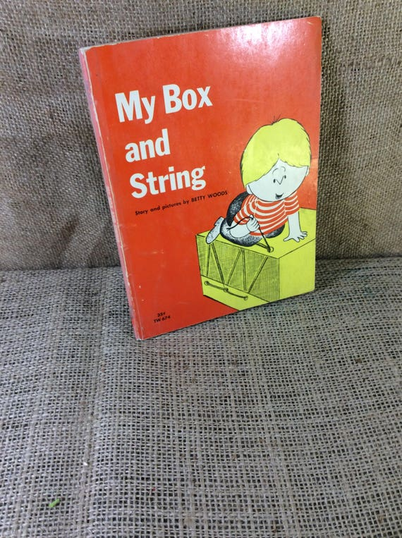 Super vintage book My Box and String by Betty Woods from 1963 first printing, Free US shipping,  great childrens story, vintage
