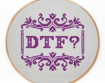 DFT ? - Modern Cross Stitch PDF - Instant Download