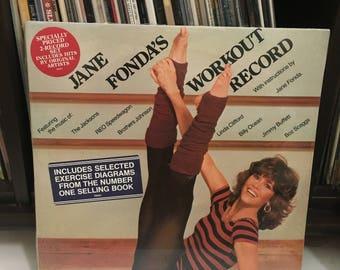 "Jane Fonda- "" Jane Fonda's Workout Record "" vinyl record"