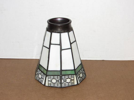 Stained glass lamp shade replacement parts 55 tall like this item mozeypictures Gallery