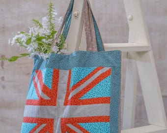 Modern Union Jack tote bag