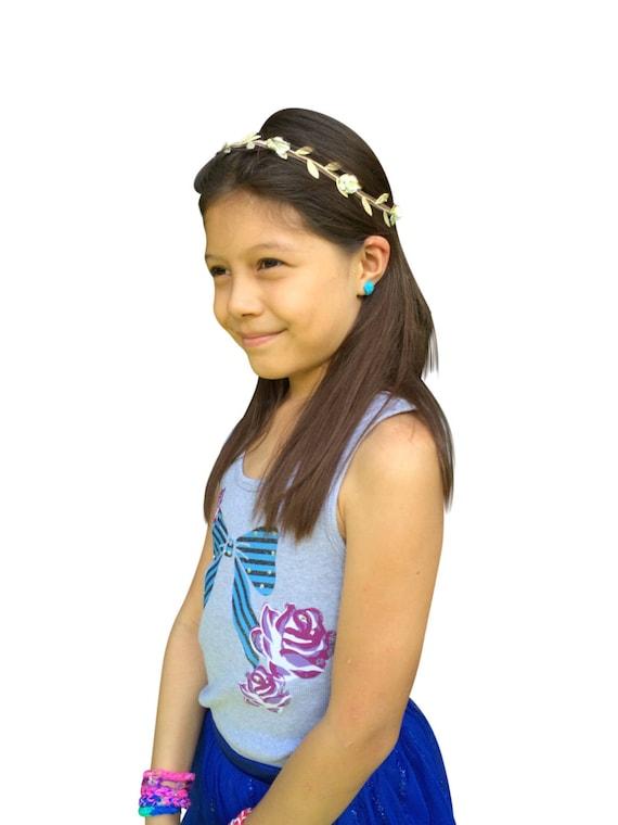 Grecian Headband, Ivory Headband, Greek Headband, Wedding Headpiece, Baby Headband, Flowers Headband, Newborn Headband, Infant Headbands