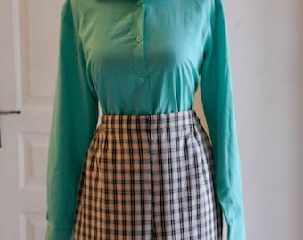 Blue Green 1940's style shirt