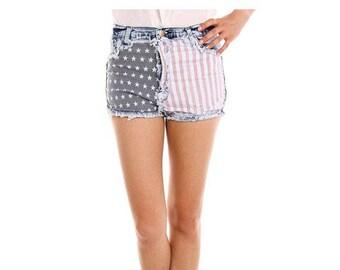 SALE | American Flag Demin Shorts