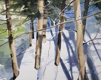 Landscape Painting, Landscape Art, Landscape Wall Art, Canadian Art, Canadian Landscape, Original Watercolor