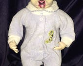 Jon Dess Original Undead Reborn Dressed For Bed Vampire Boy Just Fed Biohazard Baby