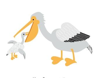Pelicans (4x4 Card)