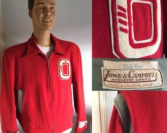 ORIGINAL 1950'S  Lowe & Campbell Bench/ Warm-up Jacket XL