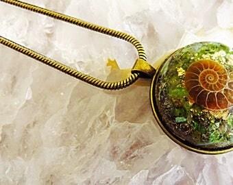 Powerful Orgone Pendant - Turquoise/Pyrite/Peridot/Emerald/Ammonite - FREE WORLDWIDE SHIPPING!
