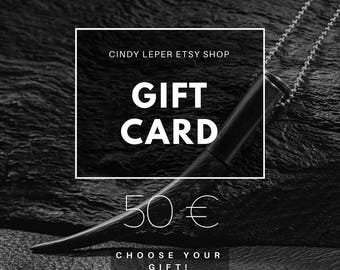 Cindy Leper GIFT CARD /// Validity 6 months /// Gift idea /// Gift for him /// Gift for her
