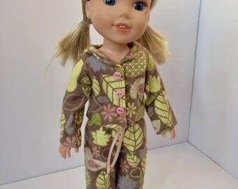 """Doll pajamas. Wellie wishers pajamas. 14.5"""" doll pajamas."""
