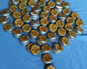 50 Corona light beer bottle caps