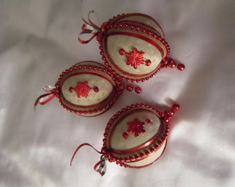 Set of Four Lovely Hand Made Christmas Decorations (? vintage)