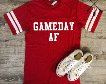 Game Day AF Jersey, Gameday Shirt, Football Shirt, Game Day Tee, Football Saturday, Football, Volleyball