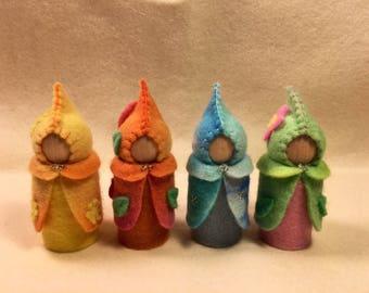 4 Seasonal gnomes Australian made Waldorf inspired