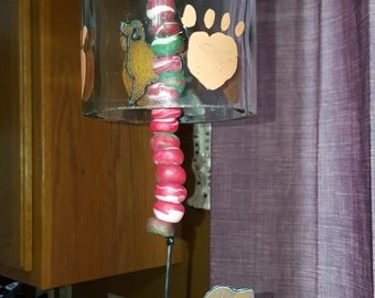Bottle Wind Chimes.. Golden Retriever