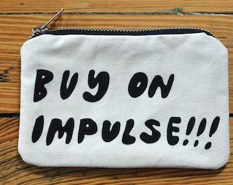 Zipper Pouch Wallet - Buy on Impulse Screen Print Fabric