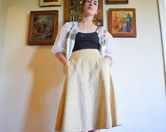 70's Faux Suede Pocket Skirt