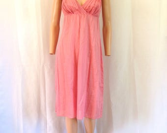 1990's Agnes B. Pink Lightweight Cotton Dress 42 Made in France